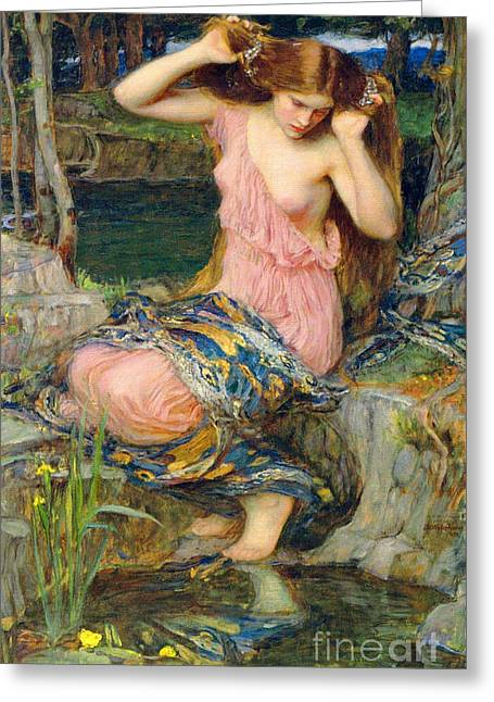Lamia 1909 Greeting Card by Padre Art