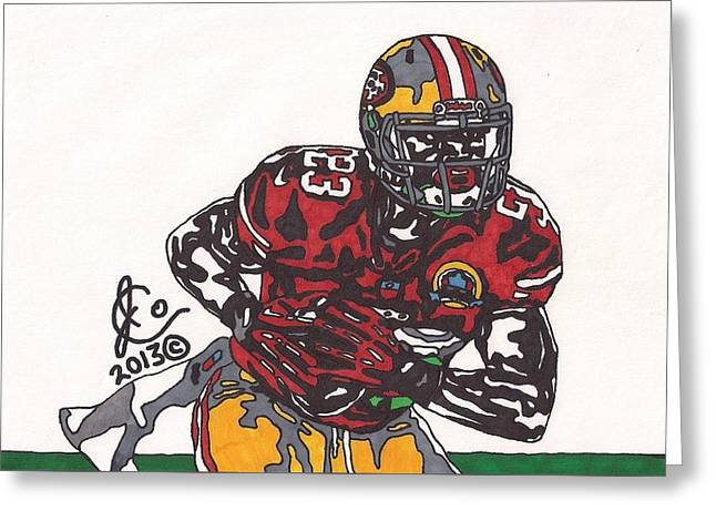 49ers Drawings Greeting Cards - LaMicheal James 49ers Greeting Card by Jeremiah Colley