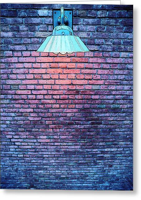 Gaphic Greeting Cards - Lamp Light Greeting Card by Paul Wear