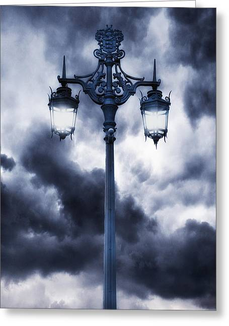 Street Lamps Greeting Cards - Lamp Post Greeting Card by Joana Kruse