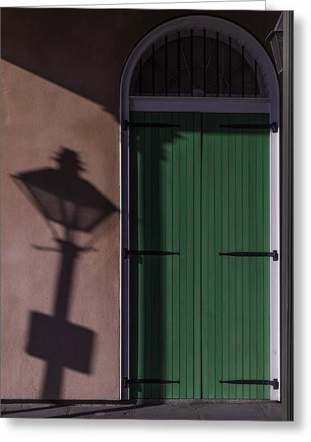 Lamp Shadow Greeting Card by Garry Gay