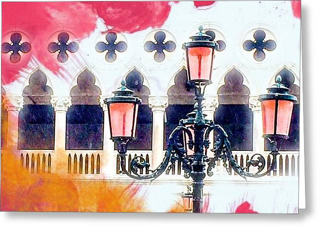 Original Art Photographs Greeting Cards - Lamps of Love at St. Marks Greeting Card by Sharon Wunder Photography