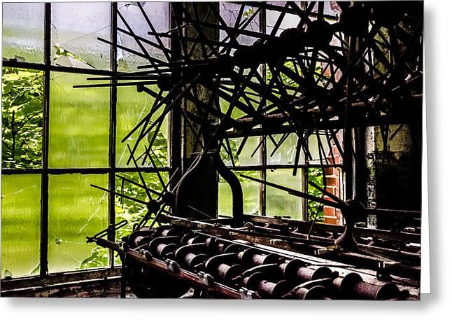 Lonaconing Silk Mill I Greeting Card by Arne Hansen