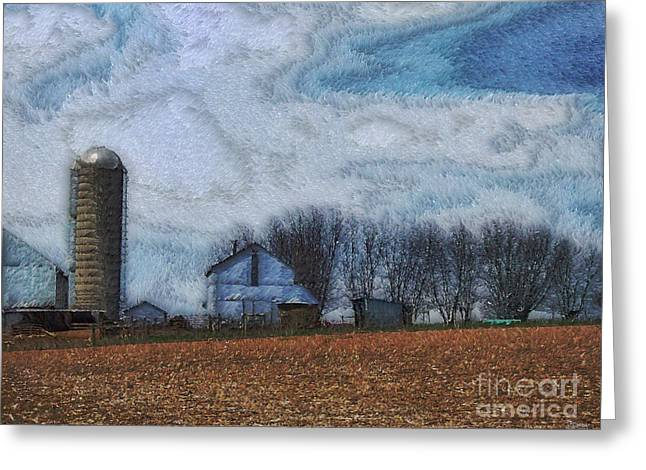 Amish Farms Digital Art Greeting Cards - Lancaster County PA Greeting Card by Jeff Breiman