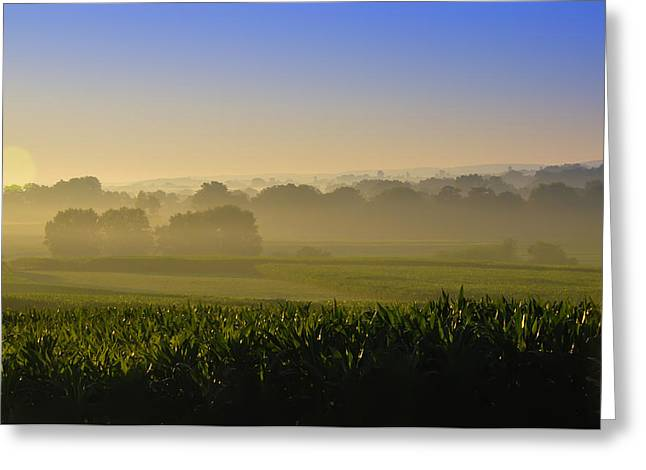 Lancaster County Sunrise Greeting Card by Bill Cannon