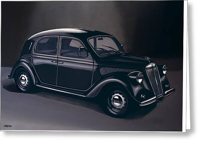 Lancia Ardea 1939 Painting Greeting Card by Paul Meijering