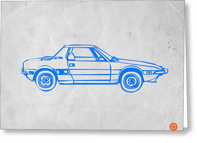 Modernism Greeting Cards - Lancia Stratos Greeting Card by Naxart Studio
