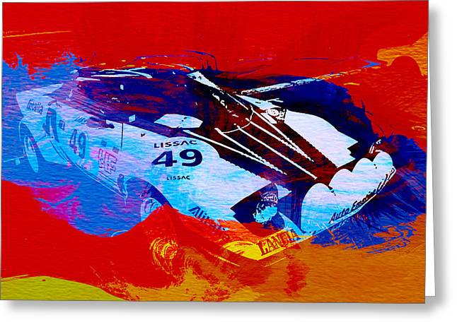 Historic Racing Greeting Cards - Lancia Stratos Watercolor 2 Greeting Card by Naxart Studio
