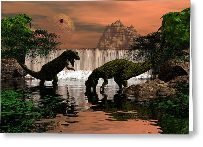 Mccoy Greeting Cards - Land before time Greeting Card by Claude McCoy