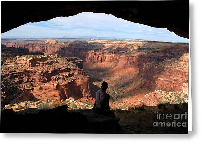 Canyon Lands Greeting Cards - Land of Canyons Greeting Card by David Lee Thompson