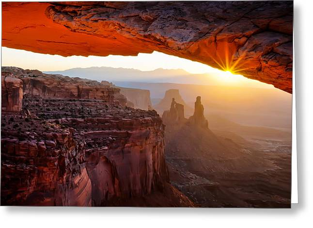 Mesa Greeting Cards - Land Of Dreams Greeting Card by John Fan