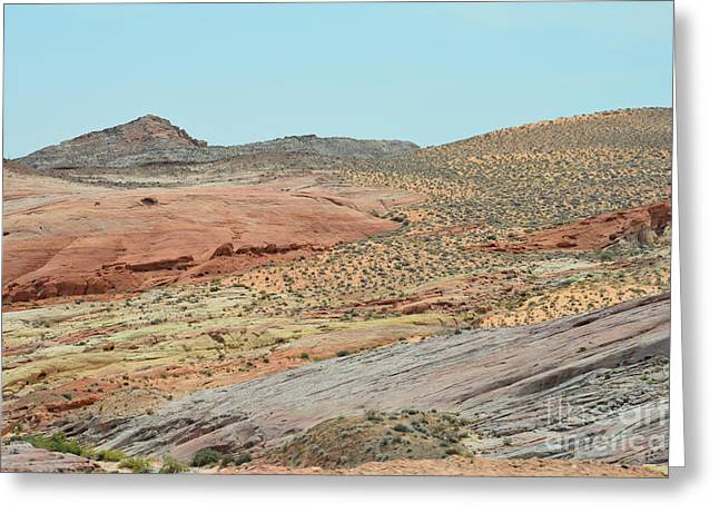 Boulders Tapestries - Textiles Greeting Cards - Land of Hope Greeting Card by Edna Weber