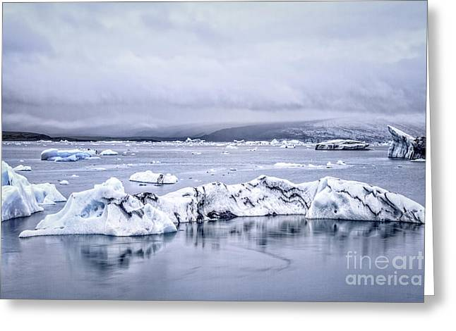 Frozen Water Greeting Cards - Land Of Ice Greeting Card by Evelina Kremsdorf