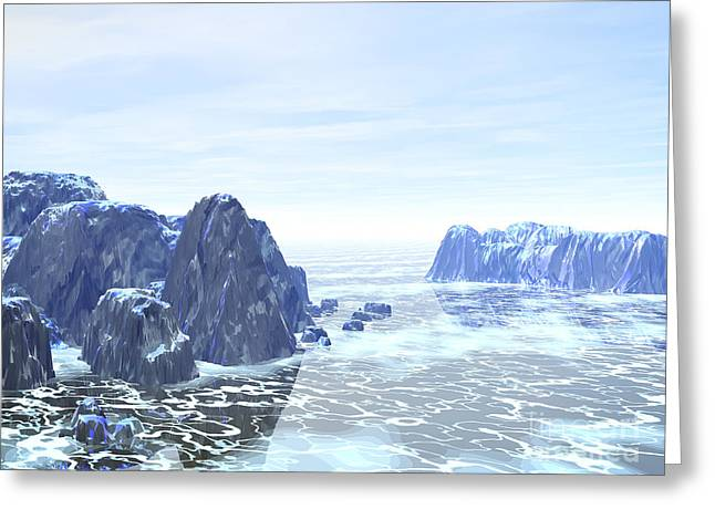 Fantasy World Greeting Cards - Land of Ice Greeting Card by Phil Perkins