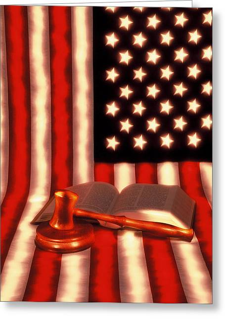 Court Room Greeting Cards - Land of Laws Greeting Card by Gerard Fritz