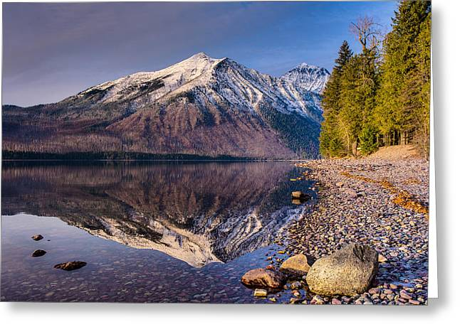 West Glacier Greeting Cards - Land of Shining Mountains Greeting Card by Adam Mateo Fierro