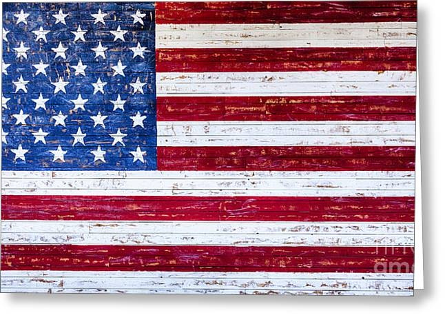 Land Of The Free Greeting Card by David Millenheft