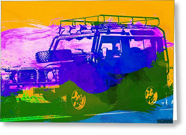 Defender Greeting Cards - Land Rove Defender Greeting Card by Naxart Studio