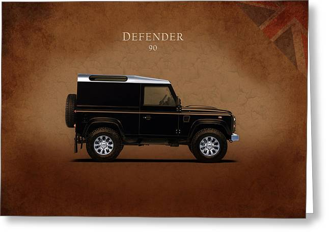Defender Greeting Cards - Land Rover Defender 90 Greeting Card by Mark Rogan