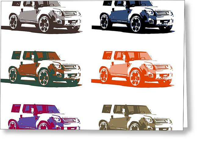 Land Rover Pop Poster Greeting Card by Dan Sproul
