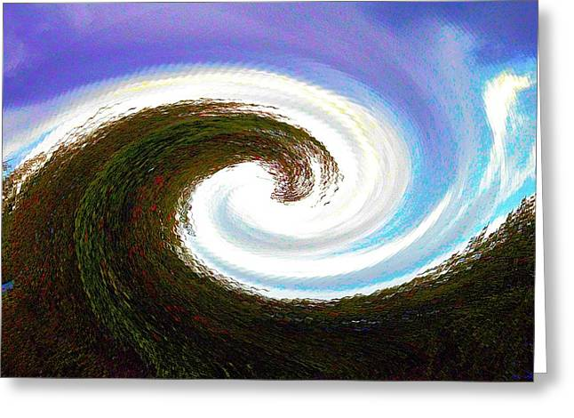 Abstract Movement Greeting Cards - Land Wave Greeting Card by Kristalin Davis