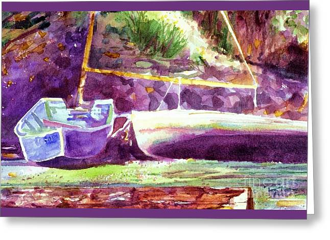 Easy Going Greeting Cards - Landed Boats Greeting Card by Cynthia Pride