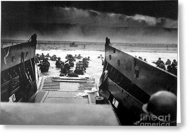Landing Craft Greeting Cards - Landing craft used in the Invasion of Normandy in World War II. Greeting Card by Celestial Images