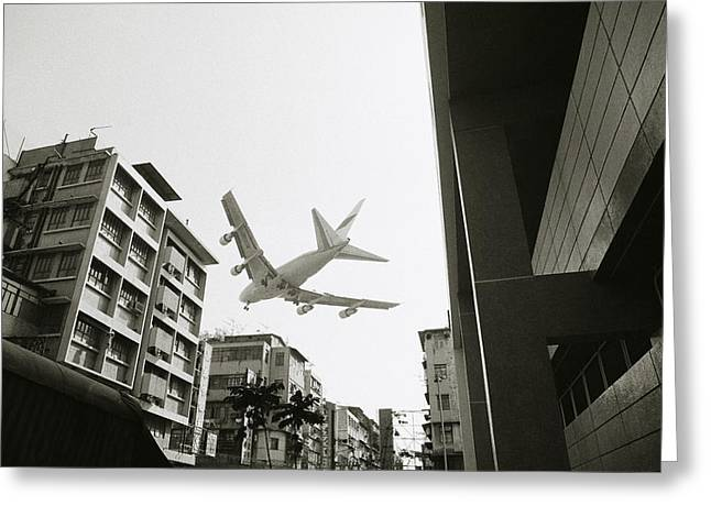 Recently Sold -  - Emergence Greeting Cards - Landing in Hong Kong Greeting Card by Shaun Higson