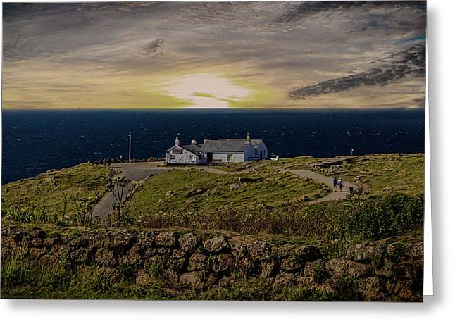 Lands End Greeting Card by Martin Newman