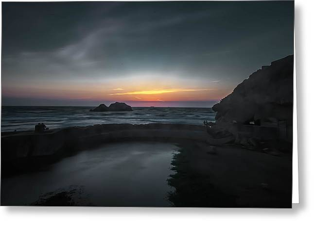 Michelle Greeting Cards - Lands End Greeting Card by Michelle Saraswati