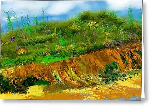 Seaside Digital Greeting Cards - Landscape 012711 Greeting Card by David Lane