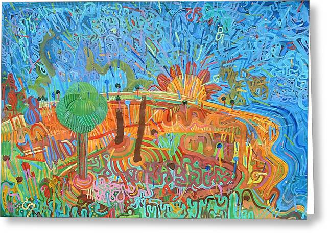 Amazing Sunset Mixed Media Greeting Cards - Landscape 4 Greeting Card by Richard Heley