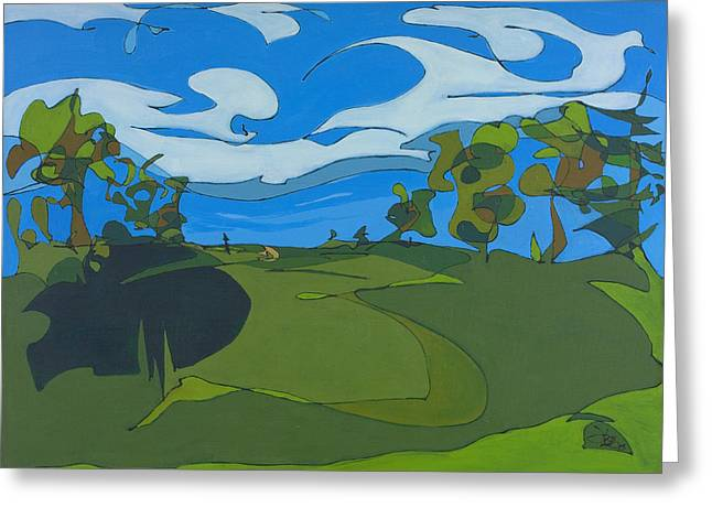 Golfcourse Greeting Cards - Landscape 9 Greeting Card by John Gibbs