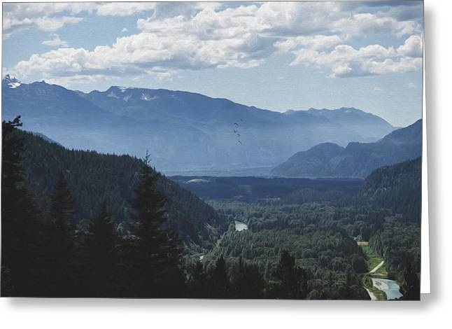 Mountain Valley Greeting Cards - Landscape Art - Morning In The Valley Greeting Card by Jordan Blackstone