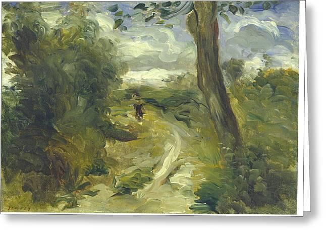 Outlook Paintings Greeting Cards - Landscape Between Storms Greeting Card by Auguste Renoir