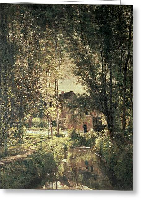 Charles River Paintings Greeting Cards - Landscape Greeting Card by Charles Francois Daubigny