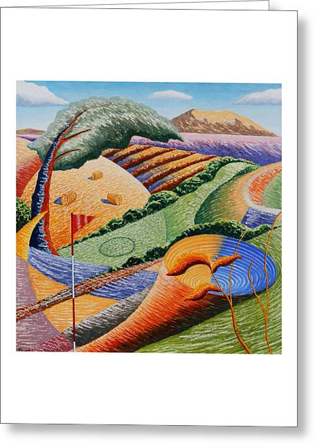 Cornfield Mixed Media Greeting Cards - Landscape Funnel Greeting Card by Adrian Jones