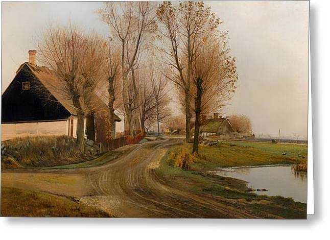 Historic Home Greeting Cards - Landscape In Balersbronde Greeting Card by Laurits Andersen Ring