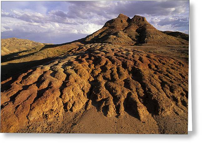 Geologic Formations Greeting Cards - Landscape Of Dirt In Rural Wyoming Greeting Card by Bobby Model