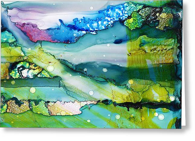 Landscape Of Flowing Dreams - The Science Of Idiosyncratic Perception Greeting Card by Sir Josef Social Critic - ART