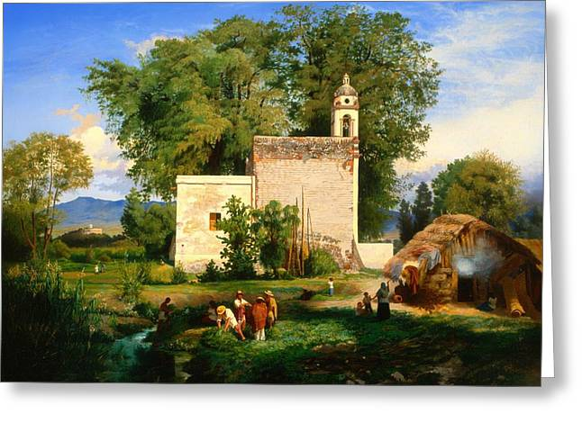 Historic Home Greeting Cards - Landscape Of San Cristobal Romita  Greeting Card by Luis Cotto