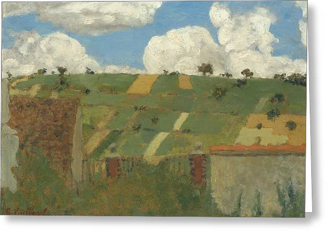 Outlook Paintings Greeting Cards - Landscape Of The Ile-de-france Greeting Card by Edouard Vuillard