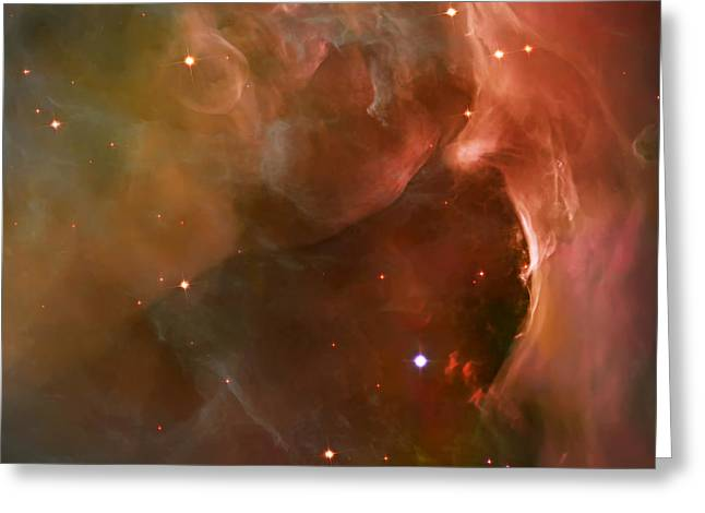 Nebula Images Greeting Cards - Landscape Orion Nebula Greeting Card by The  Vault - Jennifer Rondinelli Reilly