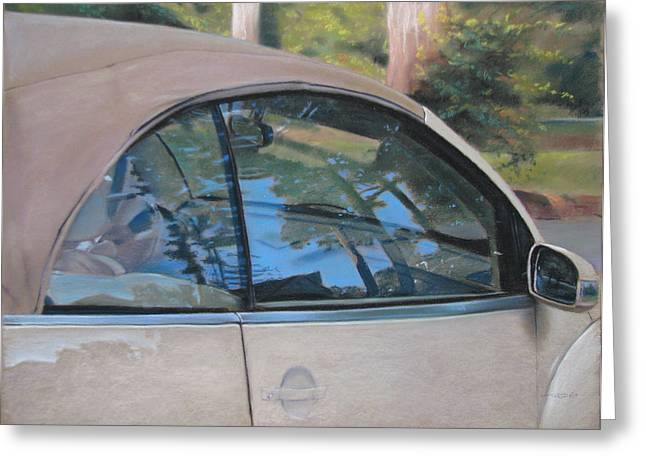 Window Pastels Greeting Cards - Landscape Reflection Greeting Card by Christopher Reid