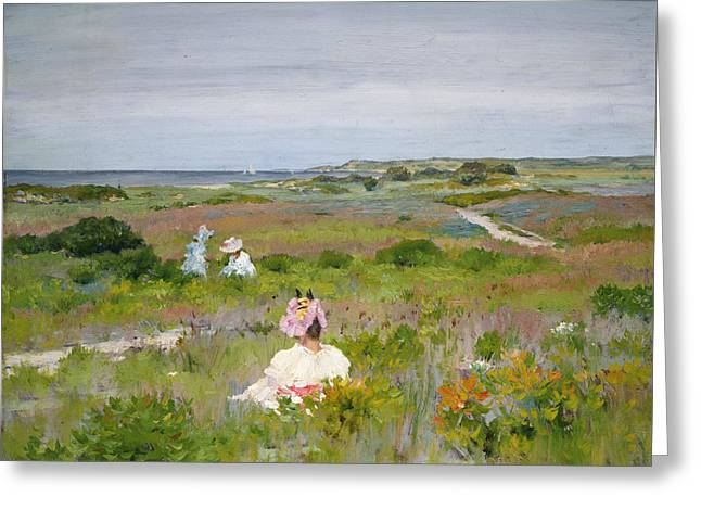Landscape- Shinnecock, Long Island Greeting Card by William Merritt Chase
