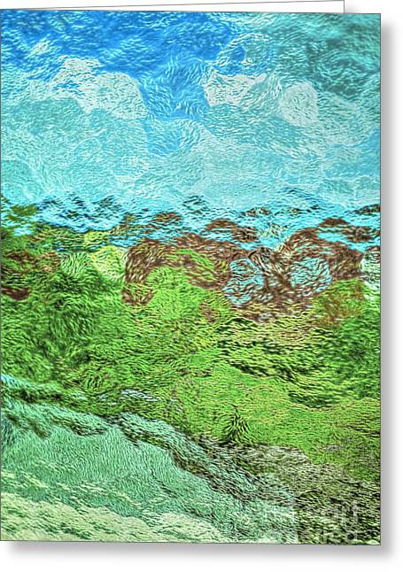 Van Gogh Style Photographs Greeting Cards - Landscape through Frosted Glass Greeting Card by Norman Gabitzsch