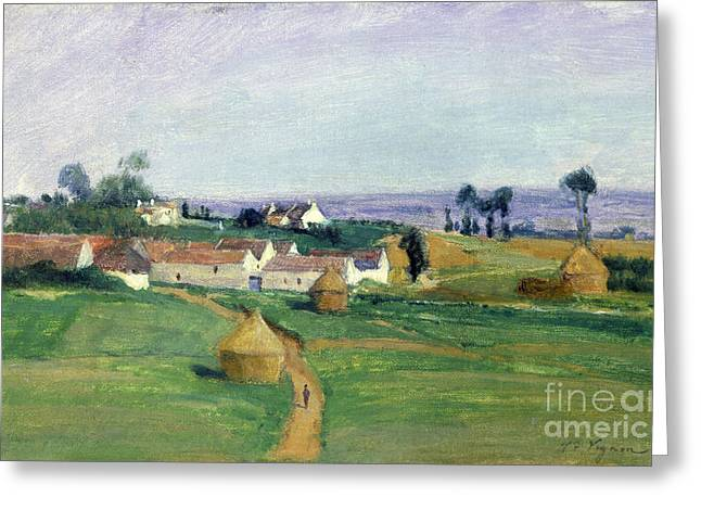 Picturesque Paintings Greeting Cards - Landscape Greeting Card by Victor Vignon