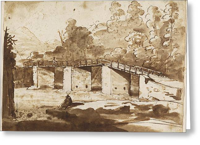 Prospects Greeting Cards - Landscape With A Bridge Greeting Card by Claude Lorrain