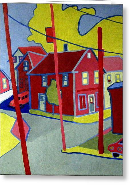 New England Village Greeting Cards - Lanesville Corner Gloucester MA Greeting Card by Debra Bretton Robinson