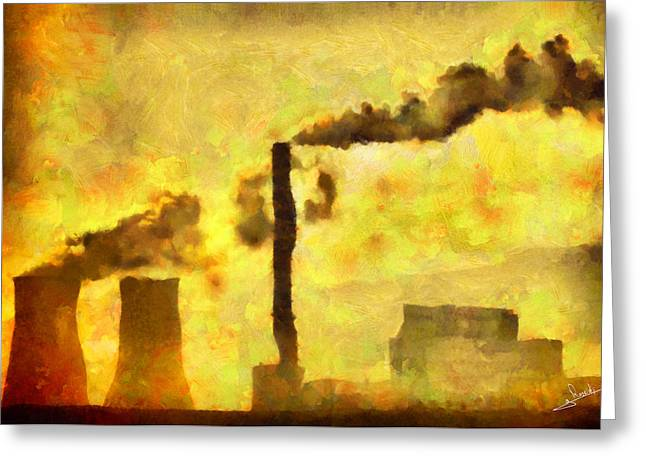 Planet Factory Greeting Cards - Planet earth Greeting Card by George Rossidis